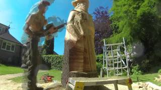 "Chainsaw Dave: Time Lapse Chainsaw Carving - ""Sussex People"""