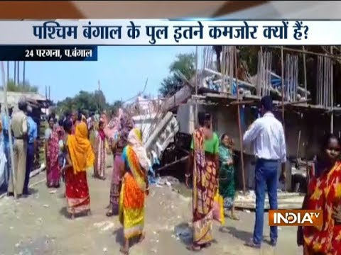 Under-construction bridge collapses in South 24 Pargana in West Bengal