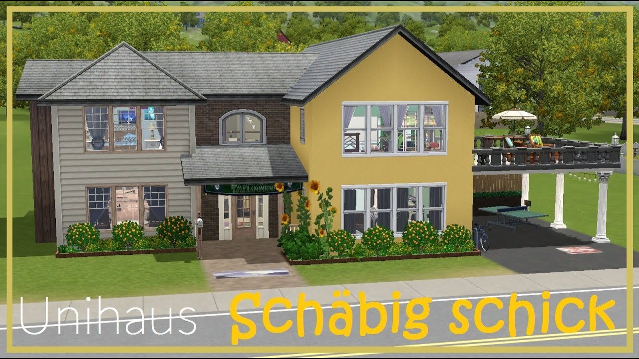 sims 3 hausbau sch big schick let 39 s play unihaus youtube. Black Bedroom Furniture Sets. Home Design Ideas