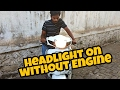 How to change headlight connection from engine to battery for scooters | Honda activa 3g