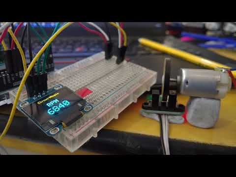 Arduino capturing RPM of a motor using photoelectric encoders
