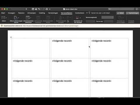 Onwijs Etiketten maken en printen met Word en Excel - YouTube QM-45