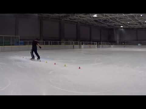 Freestyle slaloming on ice #3 @ Fukushima prefecture