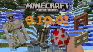 MINECRAFT PE 0.10.0 UPDATE REVIEW! | SKINS! MUSIC! TRADING! AND MORE!