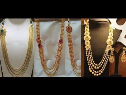 22k Gold Latest Chandraharam Designs By Sowmya Krishna