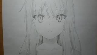 рисование Shina Mashiro (speed drawing)