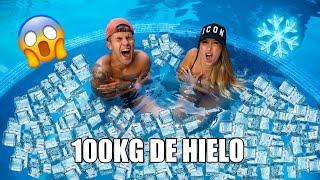 100 KILOS DE HIELO EN EL JACUZZI **con mi novio**
