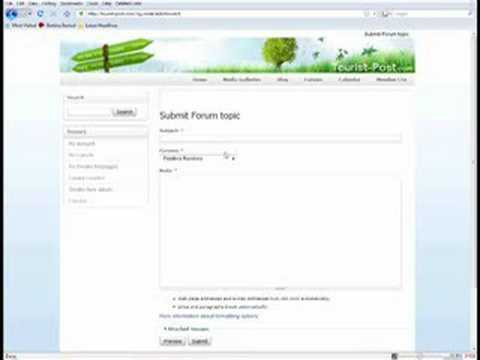 Step 4: Create Forum Topics in Tourist-Post.com