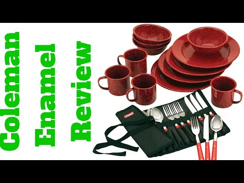 Coleman 24 Piece Enamel Dinnerware Set Review