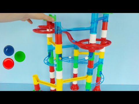 Marble Run Toy Unboxing and Playing