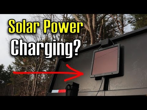Portable Solar Panel Powered Trickle Charger Keeps My Battery CHARGED!