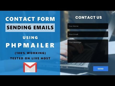 Contact Page - With PHP Send Emails - Using PHPMalier - PHP & Javascript