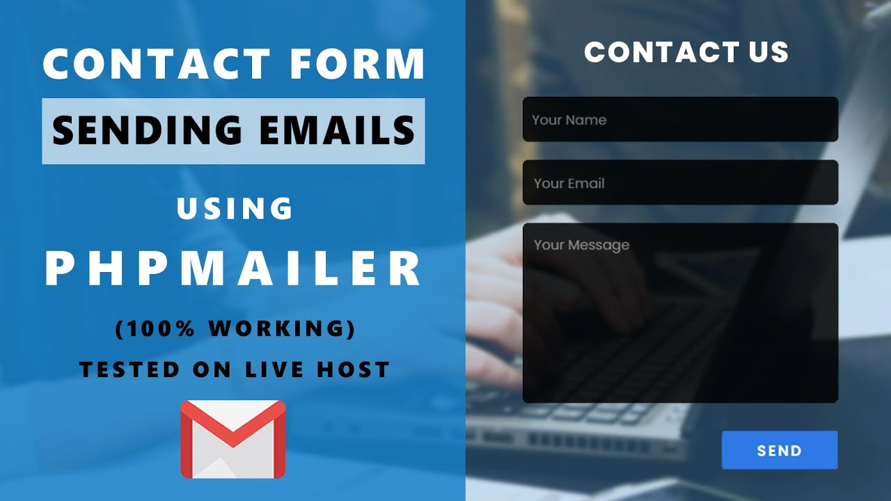 Contact Page   With Sending Emails PHP Using PHPMalier - PHP & Javascript