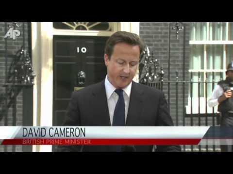 London Quiet but UK Riots Spread, PM Talks Tough