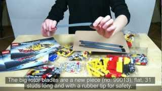 LEGO Technic 9396 Helicopter Review & Time Lapse Build