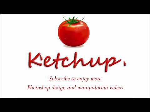 Melting ketchup text effect on Photoshop