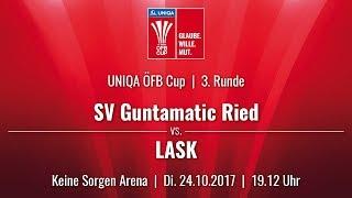 24.10.2017 / 19:12  SV Guntamatic Ried vs LASK