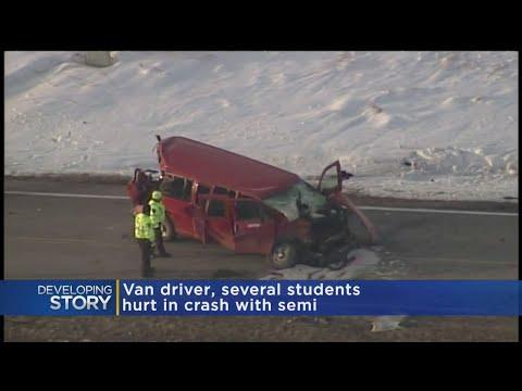 Sheriff's Office: 'Numerous Injuries' In School Van-Semi Crash