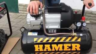 Компрессор HAMER AIR-3. Какой генератор лучше всего подходит к компрессору HAMER AIR-3?(Какой генератор лучше всего подходит к компресору? Компания ЗИДБАЙ - первый поставщик строительной техник..., 2015-10-14T07:36:15.000Z)