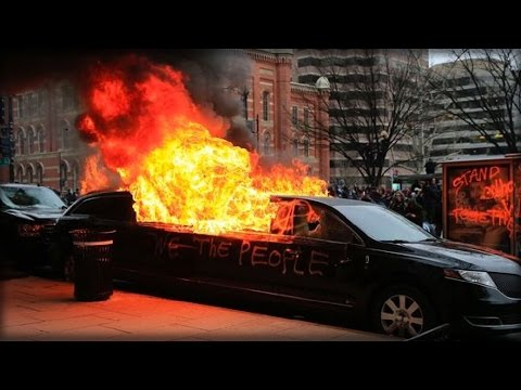 OOPS: PUNK TRUMP-HATERS TORCH LIMO... LEARN TOO LATE WHO ACTUALLY OWNED IT