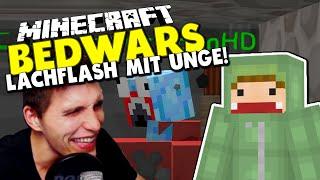 LACHFLASH wegen KaktusmannHD! ✪ Minecraft Bedwars Woche Tag 135 mit Unge