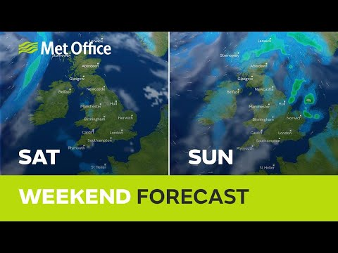 Weekend weather - Warm for the weekend, but turning cooler from the NW - with showers