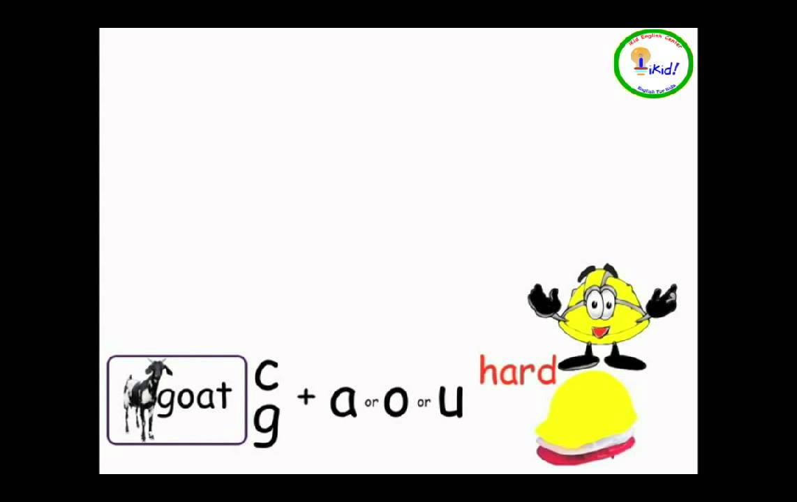 Workbooks soft g and c worksheets : Letter Soft/Hard C & G - iKid Phonics - YouTube