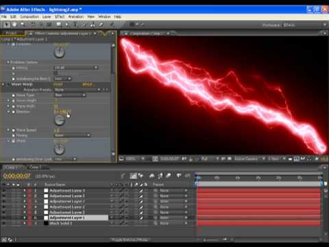 How to make Advanced Lightning in Adobe After Effects CS3