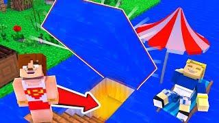 SU ALTINA GİZLİ GEÇİT YAPTIM #3 OKYANUSCRAFT - Minecraft