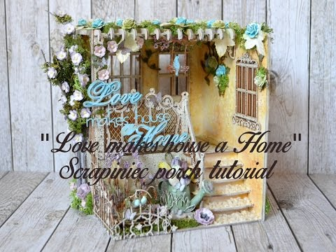 """Love makes house a home"" Spring Porch tutorial"