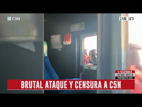 Militantes macristas agreden móvil de C5N en el Obelisco