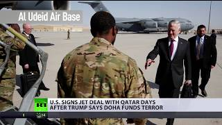 US signs $12bn worth jet deal with Qatar days after Trump called Doha 'terrorist funder'