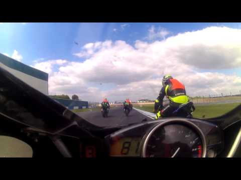 On board 1 with Dan  no limits racing metzeler newcomers 1000 donington park 150516 race 2 part 1