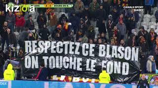 Les banderoles de mécontentement des supporters lensois ! (RCL - FBBP 12/03/2018)