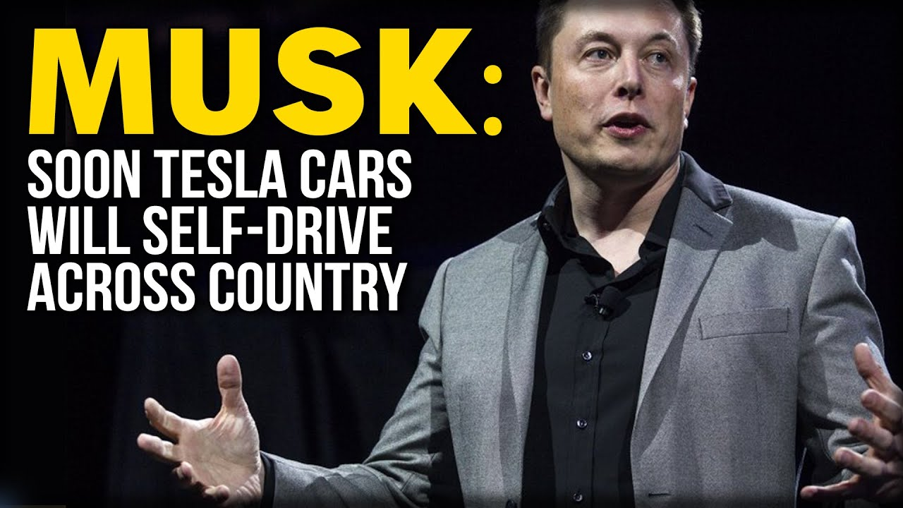 musk soon tesla cars will self drive across country youtube. Black Bedroom Furniture Sets. Home Design Ideas
