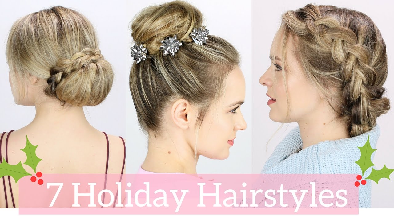 Christmas Hairstyles Easy.7 Easy Holiday Hairstyles Tutorial