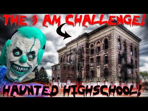 (THE 3 AM CHALLENGE) ATTACKED at HAUNTED VAMPIRE HIGH SCHOOL // OVERNIGHT IN an ABANDONED SCHOOL!