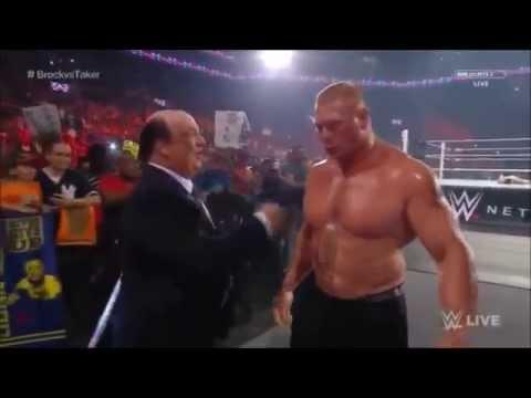 WWE RAW, Bo Dallas interrupt Brock Lesnar, Aug 24, 2015