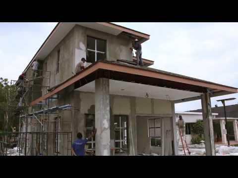 Rooftop double storey built using steel columns youtube for Building on to my house