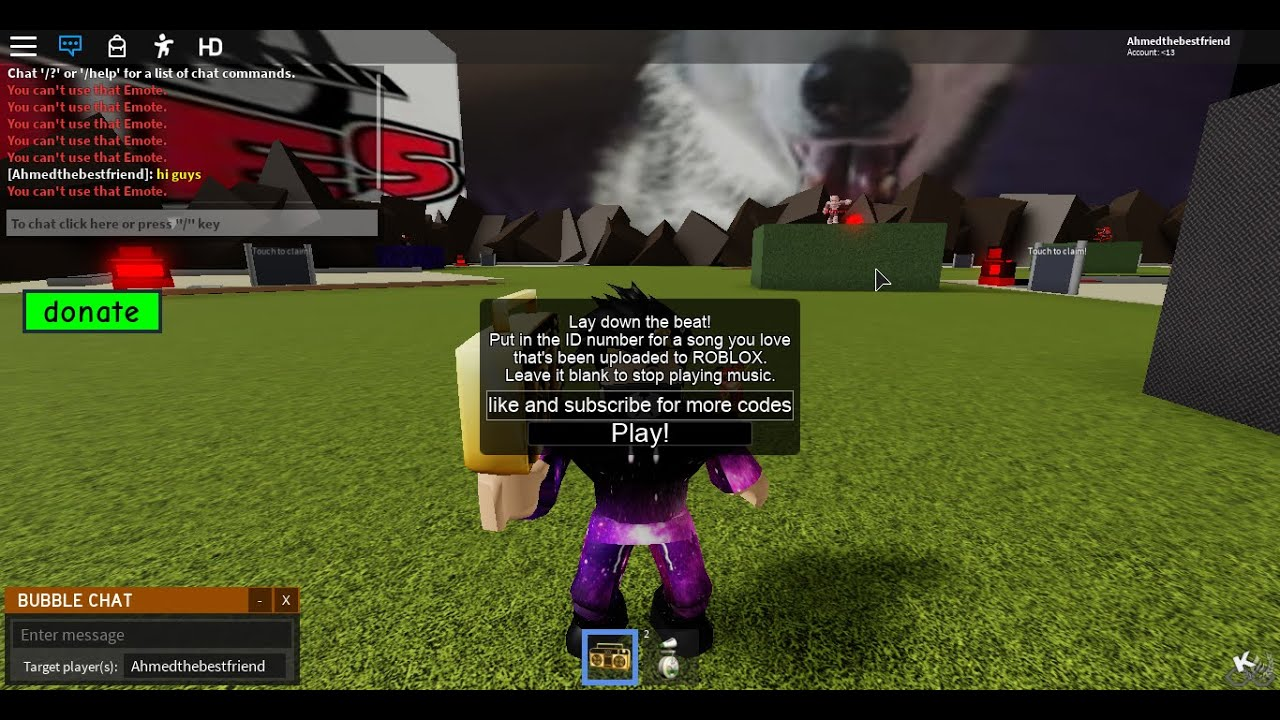 side to side roblox id