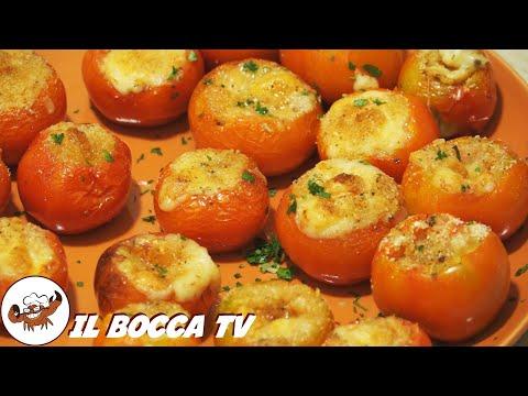 312 - Pomodori gratinati...non bisogna esse' scienziati (piatto vegetariano facile veloce e gustoso)