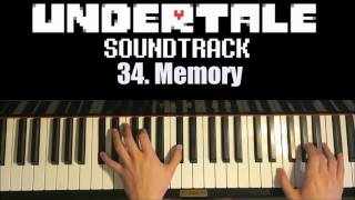 Undertale OST - 34. Memory (Piano Cover by Amosdoll)