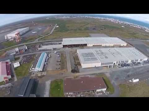 drone over data centre