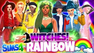 🔮RAINBOW WITCHES!🔮 - Sims 4 CAS Challenge!