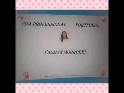 Examples for cover for CDA portfolio binder, ejemplos de caratula