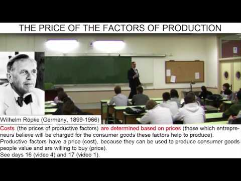 Day 33 (video 1) - THE PRICE OF THE FACTORS OF PRODUCTION - Introduction