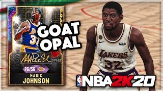 99 IN EVERY STAT GOAT GALAXY OPAL MAGIC JOHNSON SCORES 120+ POINTS!! - BEST PG In NBA 2k20 MyTEAM??