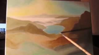 пишем пейзаж (видеоурок 4) - живопись маслом - paint landscape  - multi-layered oil painting