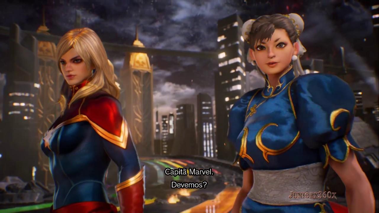 キャプテン・マーベル Hd: Chun Li & Captã Marvel