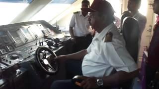 captain driving the ship on andaman sea, Andaman-2013